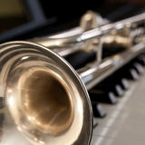 Trumpet segment closeup Stock Images