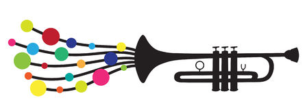 Trumpet silhouette Royalty Free Stock Image