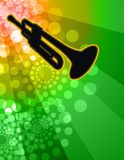Trumpet Solo - Night club background Royalty Free Stock Images