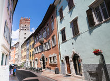 Trumpet Tower in the center of Trento, Italy Royalty Free Stock Photography