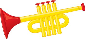 Trumpet toy. Vector Stock Photo