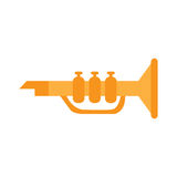 Trumpet toy. On a white background, Vector illustration stock illustration