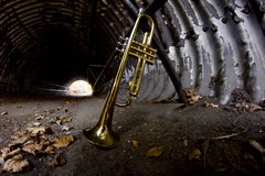 Trumpet Tunnel City Stock Images