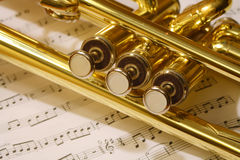 Trumpet valves Stock Images