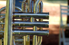 Trumpet valves  close up Royalty Free Stock Photos