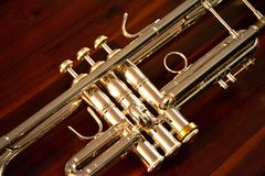 Trumpet Valves and Slides Stock Image