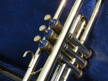 Trumpet valves royalty free stock image