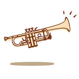 Trumpet vector. Illustrations of a trumpet isolated on white + vector eps file royalty free illustration
