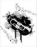 Trumpet vector. Composition illustration over a white background vector illustration