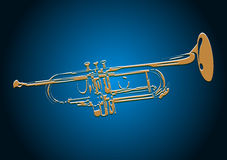 Trumpet. Vector EPS10 music concert Royalty Free Stock Images
