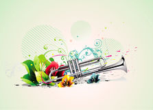 Trumpet vector illustration Stock Image