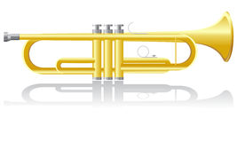 Trumpet vector illustration Royalty Free Stock Photos
