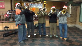 Trumpet Version Joy to the World stock video footage