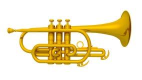 Trumpet  on white background Royalty Free Stock Image