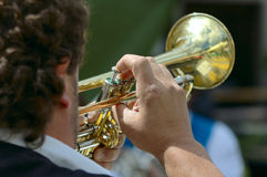 trumpetare Arkivbild
