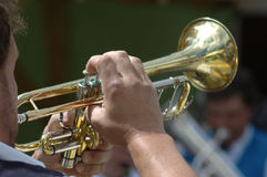 trumpetare Royaltyfri Fotografi