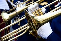 trumpetare Fotografering för Bildbyråer
