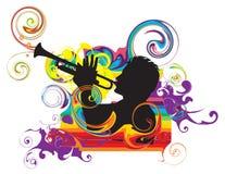 trumpetare royaltyfri illustrationer