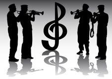 trumpetare vektor illustrationer