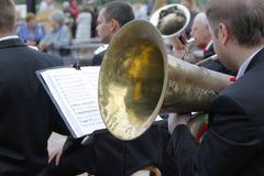 trumpeter stock foto's