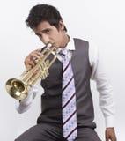 trumpeter royalty-vrije stock afbeelding