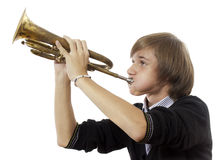 The trumpeter Stock Images