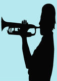 Trumpeter. A illustration of a trumpeter's silhouette stock illustration