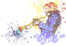 Trumpeter Royalty Free Stock Image