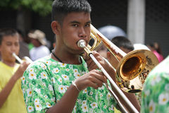 trumpeter lizenzfreie stockfotos
