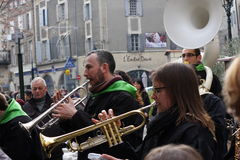 Trumpeter during Carnival of Limoux Royalty Free Stock Photo