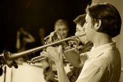The trumpeter Dominic Fuss Royalty Free Stock Photography