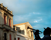 Trumpeter in France Royalty Free Stock Photo