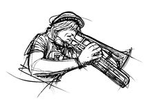 Trumpeter illustration Stock Images