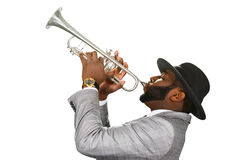 Trumpeter performing. Stock Images