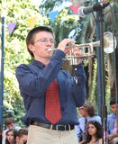 trumpeter of Philadelphia Jazz Orchestra Royalty Free Stock Photos