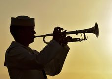Trumpeter Sailor Military Navy Stock Photography