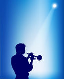 Trumpeter silhouette Stock Photos