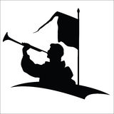 Trumpeter silhouette Royalty Free Stock Photos