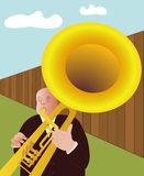 Trumpeter - vector. Illustration of the trumpet player Stock Images