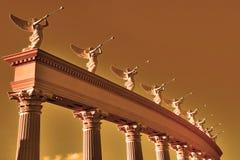 Σύνολο φτερωτών trumpeters Στοκ Φωτογραφία