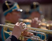 Trumpeters royalty free stock images