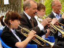 Trumpeters Stock Photography