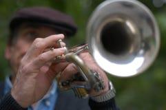 Trumpetist del jazz Fotografía de archivo libre de regalías