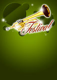 Trumpetmusikbakgrund Royaltyfri Bild