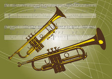 Trumpets Stock Image