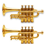 Trumpets isolated on white royalty free stock photo