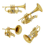 Trumpets isolated on white background Royalty Free Stock Photography