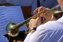 Trumpets player Royalty Free Stock Photos