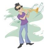 Trumpetspelare Royaltyfria Bilder