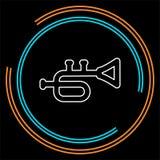 Trumpetsymbol - musikinstrument - symbol för jazzmusik stock illustrationer